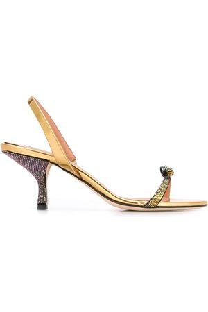 MARCO DE VINCENZO Women Sandals - Crystal bow 80mm sandals