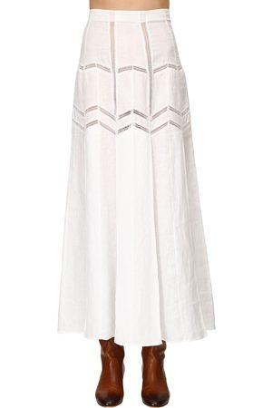 GABRIELA HEARST Aloe Linen Herringbone Skirt