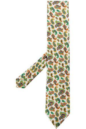 Etro Micro paisley-print silk tie - Neutrals