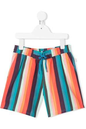 Paul Smith Multi-coloured striped swim shorts