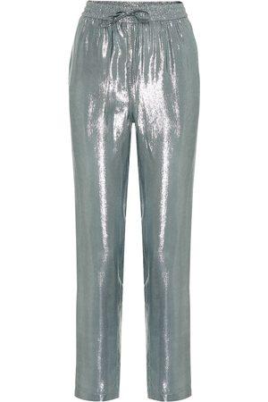 RED Valentino Metallic high-rise straight pants