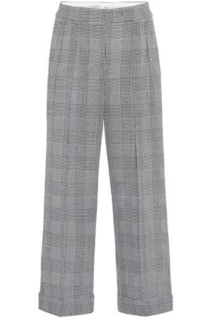 Max Mara Erise checked wool wide-leg pants