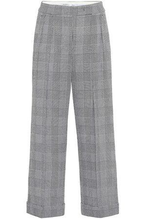 Max Mara Erise checked wool wide-leg pants