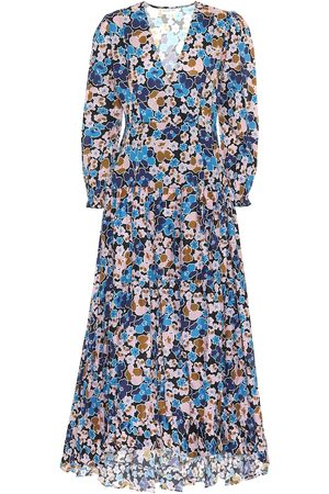 ALEXANDRA MIRO Maria floral cotton-poplin dress
