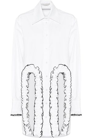 Christopher Kane Frilled cotton poplin shirt