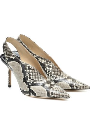 Jimmy choo Saise 85 snake-effect leather pumps