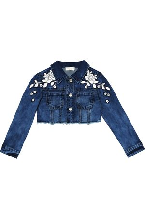 MONNALISA Appliquéd denim jacket