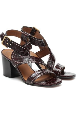 Chloé Candice croc-effect leather sandals