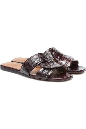 Chloé Candice croc-effect leather slides