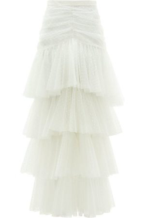 RODARTE Tiered Polka-dot Tulle Skirt - Womens