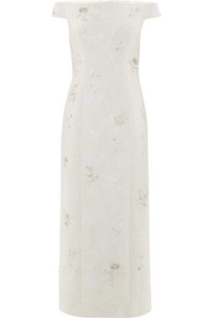 Erdem Angelique Crystal-embellished Chantilly-lace Dress - Womens - Ivory