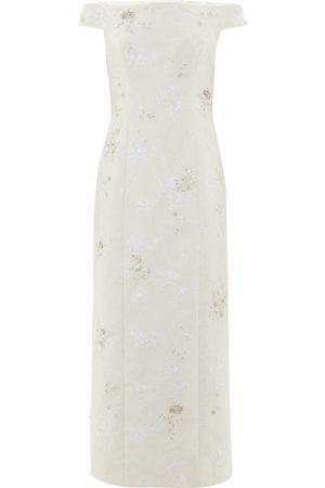 Erdem Women Dresses - Angelique Crystal-embellished Chantilly-lace Dress - Womens - Ivory