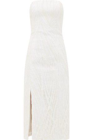 HALPERN Sequinned Bustier Midi Dress - Womens