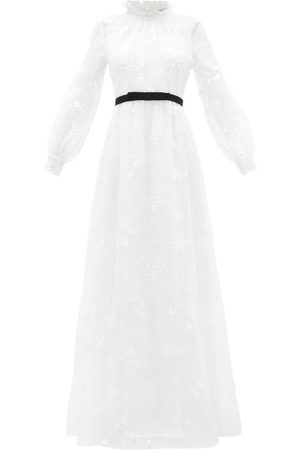 Erdem Clementine Floral-embroidered Organza Gown - Womens