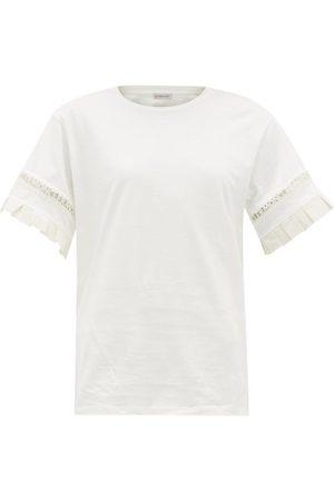 Moncler Logo-trimmed Cotton-jersey T-shirt - Womens
