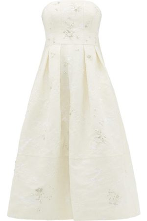 Erdem Alina Crystal-embellished Chantilly-lace Dress - Womens - Ivory