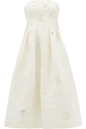 Erdem Women Dresses - Alina Crystal-embellished Chantilly-lace Dress - Womens - Ivory