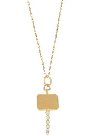 Jade Trau Women Necklaces - Catherine Diamond & 18kt Pendant Necklace - Womens