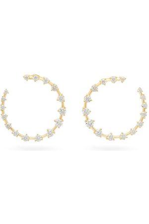 Jade Trau Crescent Diamond & 18kt Hoops - Womens