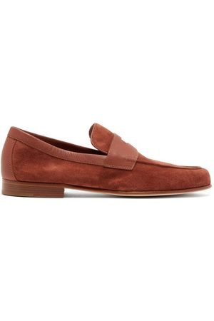 JOHN LOBB Men Loafers - Hendra Suede Penny Loafers - Mens