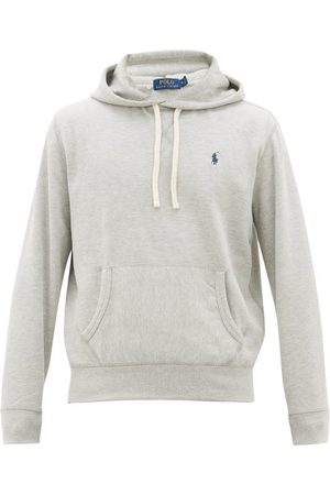 Polo Ralph Lauren Logo-embroidered Jersey Hooded Sweatshirt - Mens - Grey