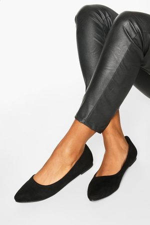 Boohoo Womens Basic Pointed Ballets - - 5