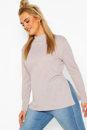 Boohoo Womens Plus Split Hem Tunic Top - - 12