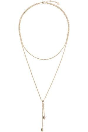 Alexander McQueen Double wrap chain skull necklace - Metallic