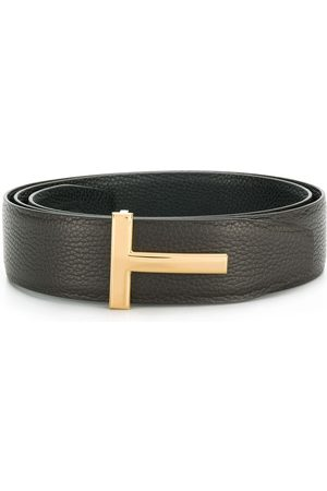 Tom Ford Men Belts - T logo reversible belt