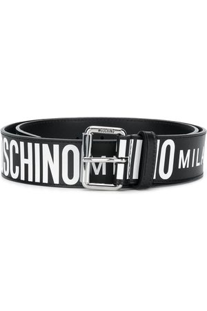Moschino All-over logo belt
