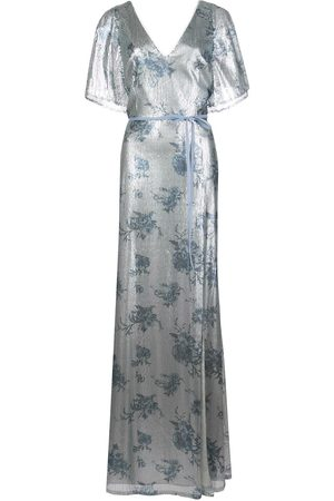 Marchesa Notte Bridesmaids Women Printed Dresses - Bridesmaid floral-printed sequin gown