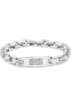 SuperJeweler .16 Carat Diamond Men's ID Bracelet in