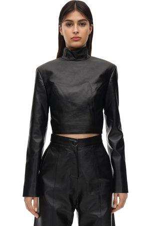 MATÉRIEL Cropped Faux Leather Top