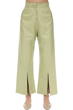 MATÉRIEL Cropped Faux Leather Pants