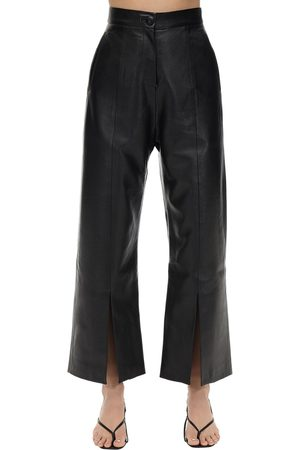 MATÉRIEL Cropped Faux Leather Straight Leg Pants