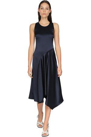 Sies marjan Bias-cut Satin Knee Length Dress