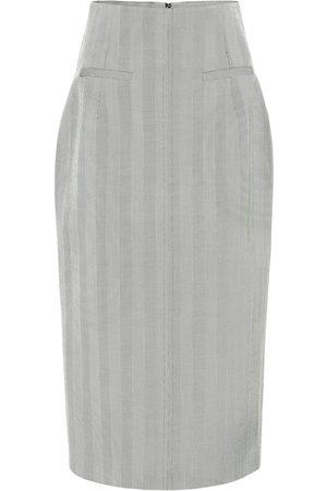 RACIL Melissa wool herringbone midi skirt