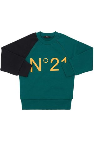 Nº21 Logo Print Cotton Sweatshirt