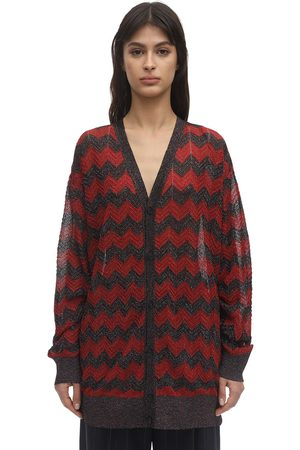 M Missoni Zig Zag Lurex Knit Cardigan