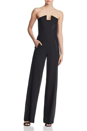 Black Halo Lena Strapless Jumpsuit