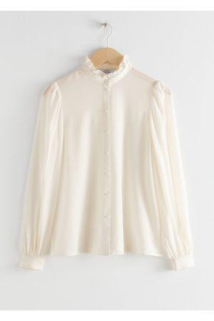 & OTHER STORIES Ruffle Collar Silk Shirt