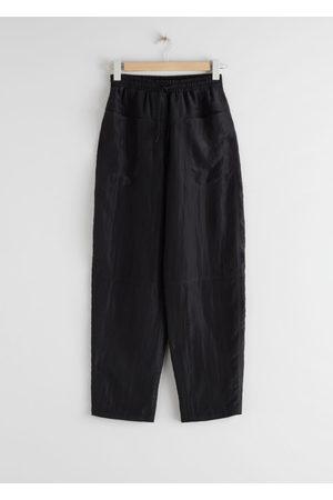 & OTHER STORIES Women Wide Leg - Nylon Wide Leg Drawstring Trousers