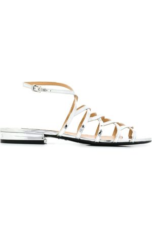 Sergio Rossi Women Sandals - Metallic leather sandals