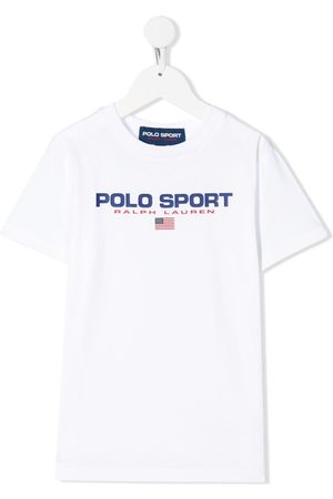 Ralph Lauren Kids Girls Sports T-shirts - Polo sport logo T-shirt