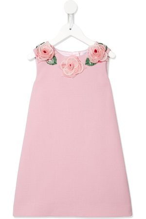 Dolce & Gabbana Girls Dresses - Rose corsage dress