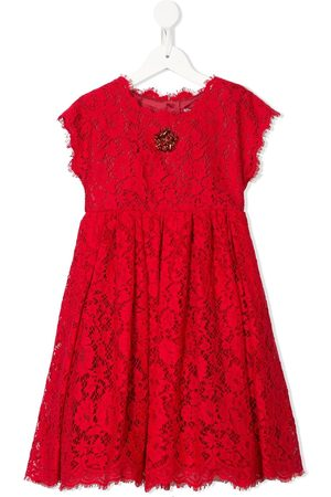 Dolce & Gabbana Crystal-flower floral-lace dress