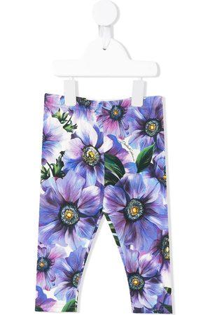 Dolce & Gabbana Kids Baby Leggings - Anemone print leggings