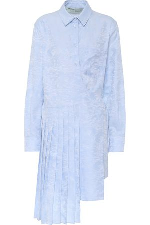 Off-White Waves jacquard cotton shirt dress