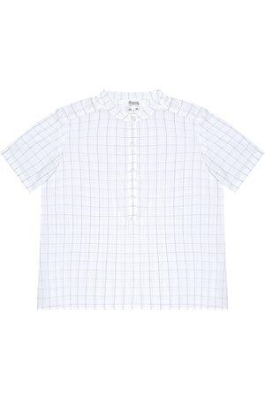 Bonpoint Cesar checked seersucker shirt
