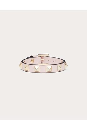 VALENTINO GARAVANI Women Bracelets - Rockstud Calfskin Bracelet Women Rose Quartz 100% Pelle Di Vitello - Bos Taurus OneSize